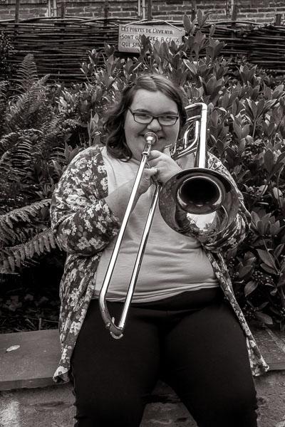 Personne jouant du trombonne